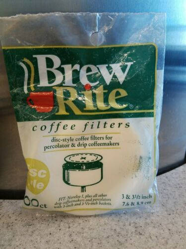 Brew Rite Disc Coffee Filter 100 Ct. Coffee Machine Accessor