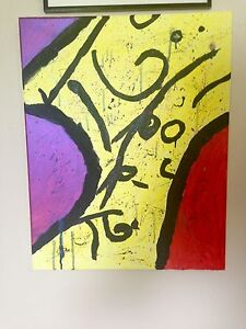 """Local Kingston artist """"Chrissy"""" abstract acrylic painting art"""