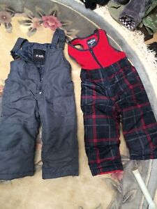 2T snow pants , mitts and boots