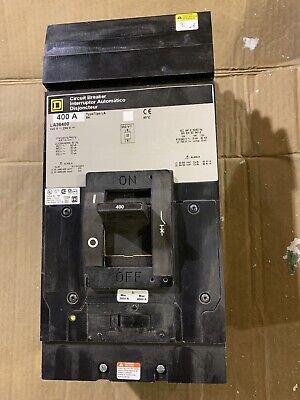 Square D La36400 Circuit Breaker I-line 400-amp 600v 3 Pole Used Qty 1