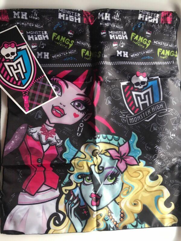 Children Girl Monster High Swim Dance School Camp Draw String Shoes Backpack Bag