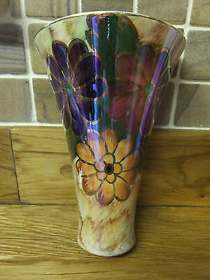 Rare Vintage J Fryer Old Courthouse Lustre Wall Vase