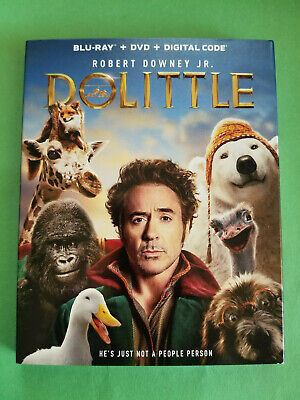 NEW - Dolittle (Blu-ray + DVD 2019 + Digital) Robert Downey - Free Shipping!!