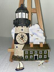 Vintage Wall Clock w Light-Sound-Lighthouse-