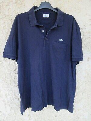 Polo lacoste devanlay bleu marine une poche coton shirt jersey manches courtes 6