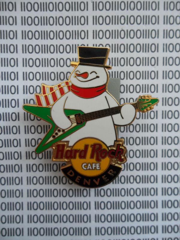 Hard Rock Cafe Denver - Rocking Snowman - Logo with Green Guitar - HRC  Pin