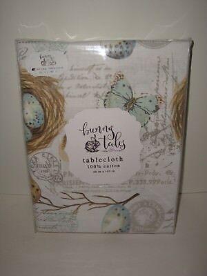 Bunny Tales Bird Eggs Nest Tablecloth 60
