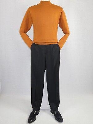 Knit Mock Neck Pullover (Men Inserch Mock Neck Pullover Knit Soft Cotton Blend Sweater Winter 4308 Rust)