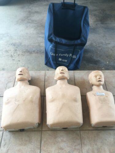 3 - Laerdal CPR Manikins With Family Pack Bag