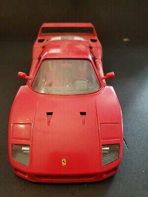 Vintage 1980's Burago Red Ferrari F-40 1/18 scale Die Cast NM NO BOX HOT