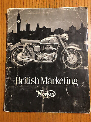 Norton Motorcycle Sales Brochure and Parts Price List Folder 40 Pages British