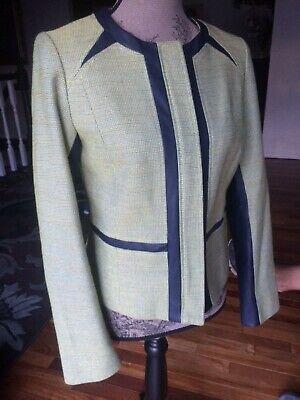 Anne Klein Women Lime Green Blazer Size 6 Long Sleeve Suit Jacket - Lime Suit