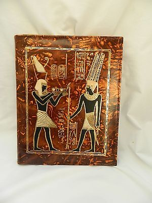 Egyptian Genuine Camel Leather Notebook King Ramses 10.75x 8.75 74