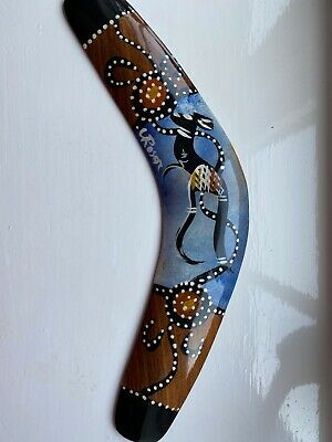 Boomerang Hand Painted By Authentic Aboriginal Australian Made