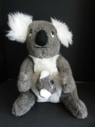 "Vtg 1987 Whatchamacallits From Down Under 17"" Koala + Baby Stuffed Animal EUC"