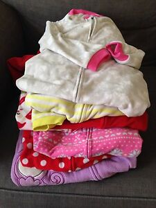 Girls 2T-3T fleece footie pyjamas $20