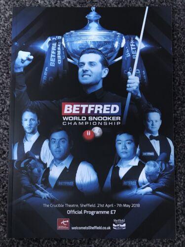 World Snooker Championship 2018 Programme