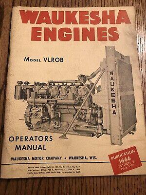Waukesha Engines Model Vlrob Operators Manual