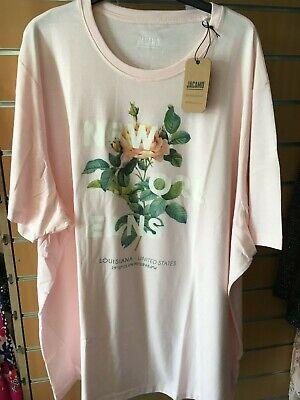 JACAMO PINK new orleans long  t-shirt   4XL  bnip  BIG&TALL