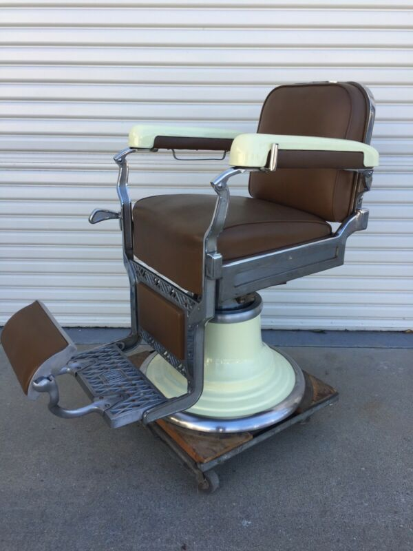 Vintage Koken Barber Chair Very Clean Original Condition
