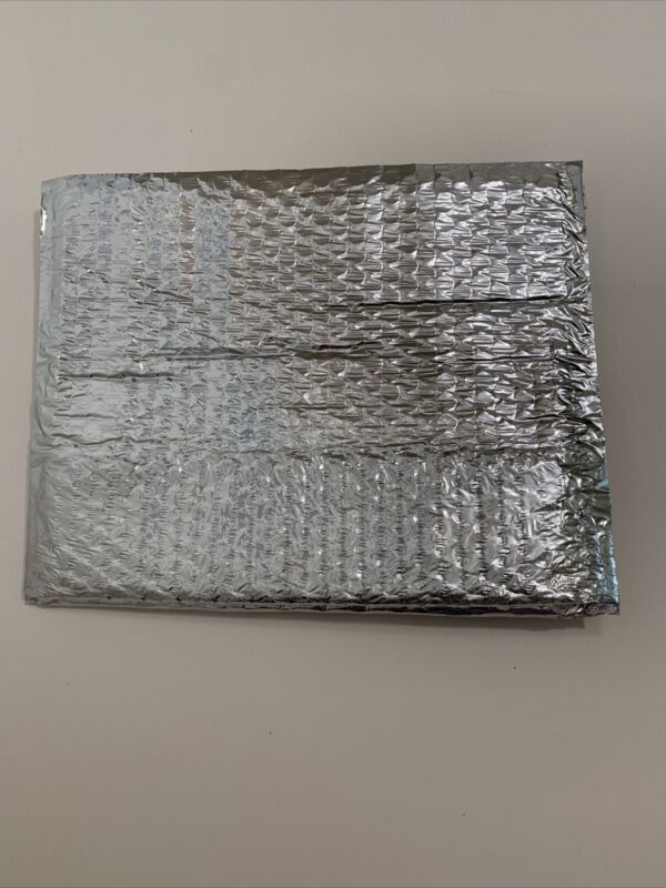 Thermal Insulated Box Liner Cold Shipping Bubble Metalized Foil 6x6x6 pack of 8