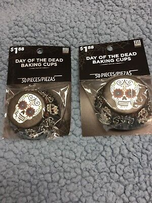 Cupcake Baking Cup Day of the Dead 50 Cups per pack](Day Of The Dead Cupcakes)