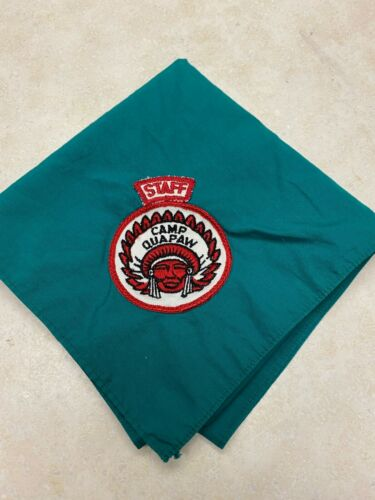 Camp Quapaw Staff Neckerchief Red & White Segment