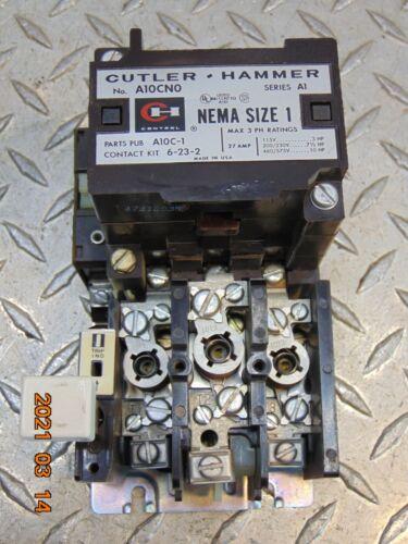 CUTLER-HAMMER A10CN0 SERIES A1 NEMA SIZE 1 27A STARTER 110/120 COIL