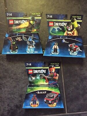 BRAND NEW LEGO DIMENSIONS 71251 THE A-TEAM, 71240 Bane, 71221 Wicked Fun Packs.