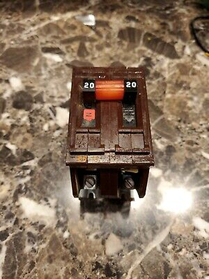 Wadsworth A220 20 Amp 2 Pole 120240v Circuit Breaker Metal Tabs Plug In
