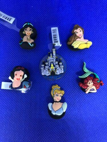 Disney: Castle & Princesses 6 Pack Authentic Jibbitz Crocs Shoe Charms (NEW)