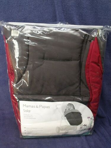 NEW! Mamas & Papas Sola Red/Black Universal Footmuff, Stroller Pushchair Liner