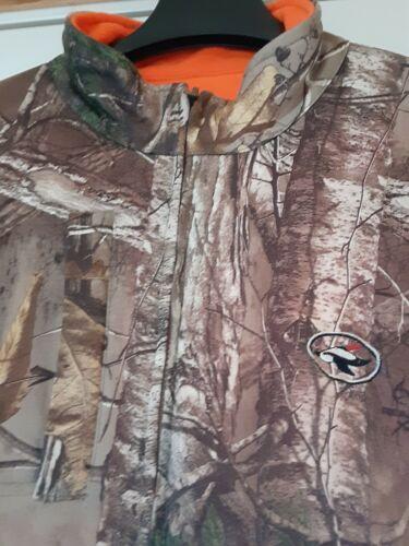 Realtree Mens Waterfowl Camouflage Reversible Blaze Orange Hunting Jacket Size M