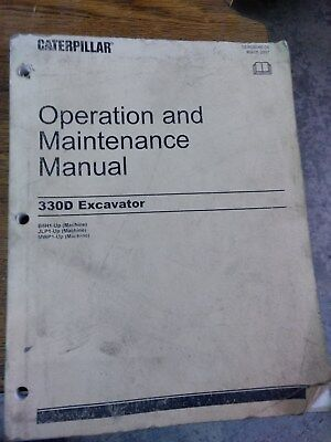 Caterpillar Cat 330d And 336d Excavators Operation And Maintenance Manual