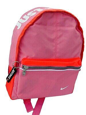 Nike Pequeño Niña Fundamental Sólo Do It Mochila Escolar SPORTS Bolsa Rosa...