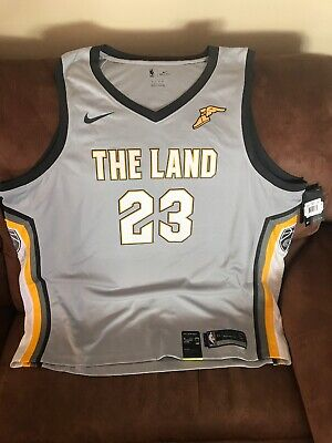 Nike The Land Lebron James Cleveland Cavaliers Nba Jersey NWT Size 60/3XL Men