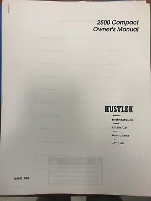 Hustler Owners Manual 2500 Compact 754622 Used