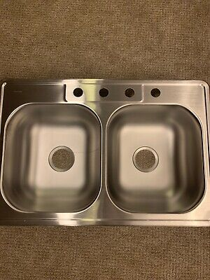 NBC33224 33 x 22 x 7-Inch Stainless-Steel Satin Double-Compartment Kitchen Sink