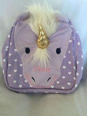 "Pottery Barn Kids Classic Critter Unicorn Backpack ""Claire"" NLA NWT"
