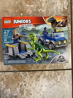 LEGO Juniors Jurassic World Raptor Rescue Truck 10757 NEW & SEALED Building Kit