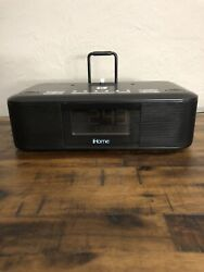 iHome HDL95  FM Clock Radio With iPhone iPod Lightning Charging Dock and USB