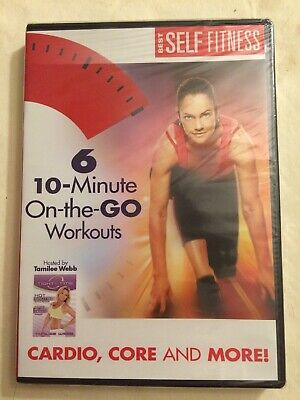 6 10-Minute On-The-Go Workouts - Best Self Fitness - DVD - *New &