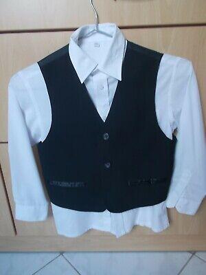 Kinder-Anzug für Jungen, Palomino, Weste, Hemd, Hose, Größe 122