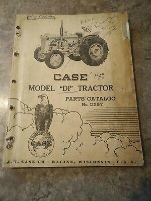 Case Di Tractor Original Parts Catalog Manual D257