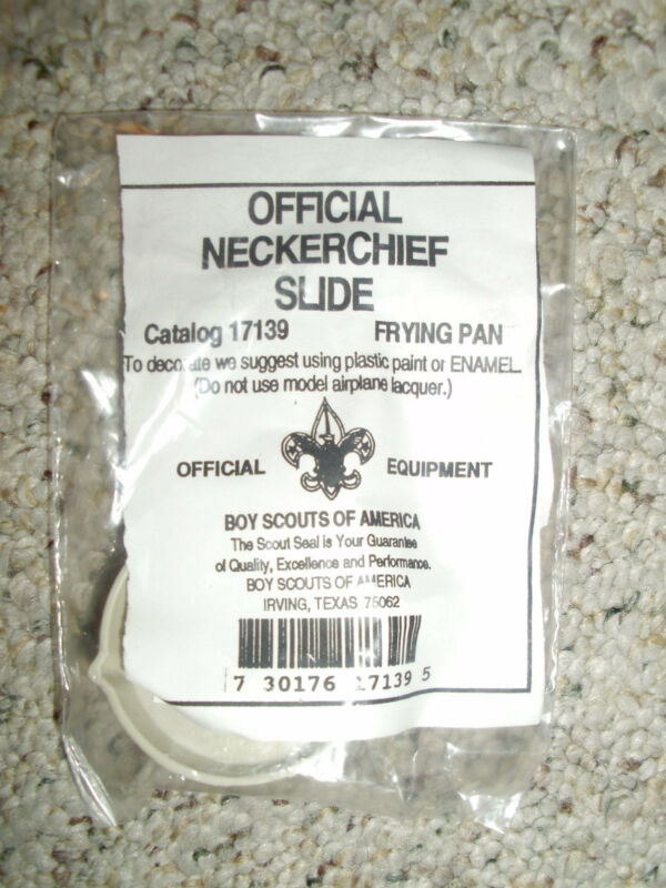 BRAND NEW OFFICIAL BOY SCOUT NECKERCHIEF SLIDE FRYING PAN BSA OA