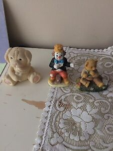 Lot of random ceramic statues $2 each or $5 for all