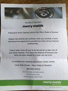 Merry maids cleaningGIFT CERTIFICATE