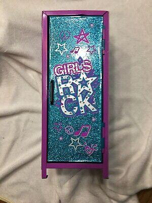 Justice Mini Storage Locker for Jewelry & Trinket GlitterPurple/teal Zebra Print Mini Lockers For Kids