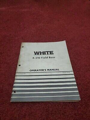 White 4-210 Field Boss Tractor Operators Owners Maintenance Manual Original