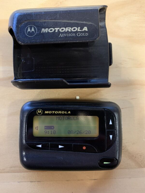 Motorola Advisor gold pager beeper belt clip alpha numeric 931.1857 mhz